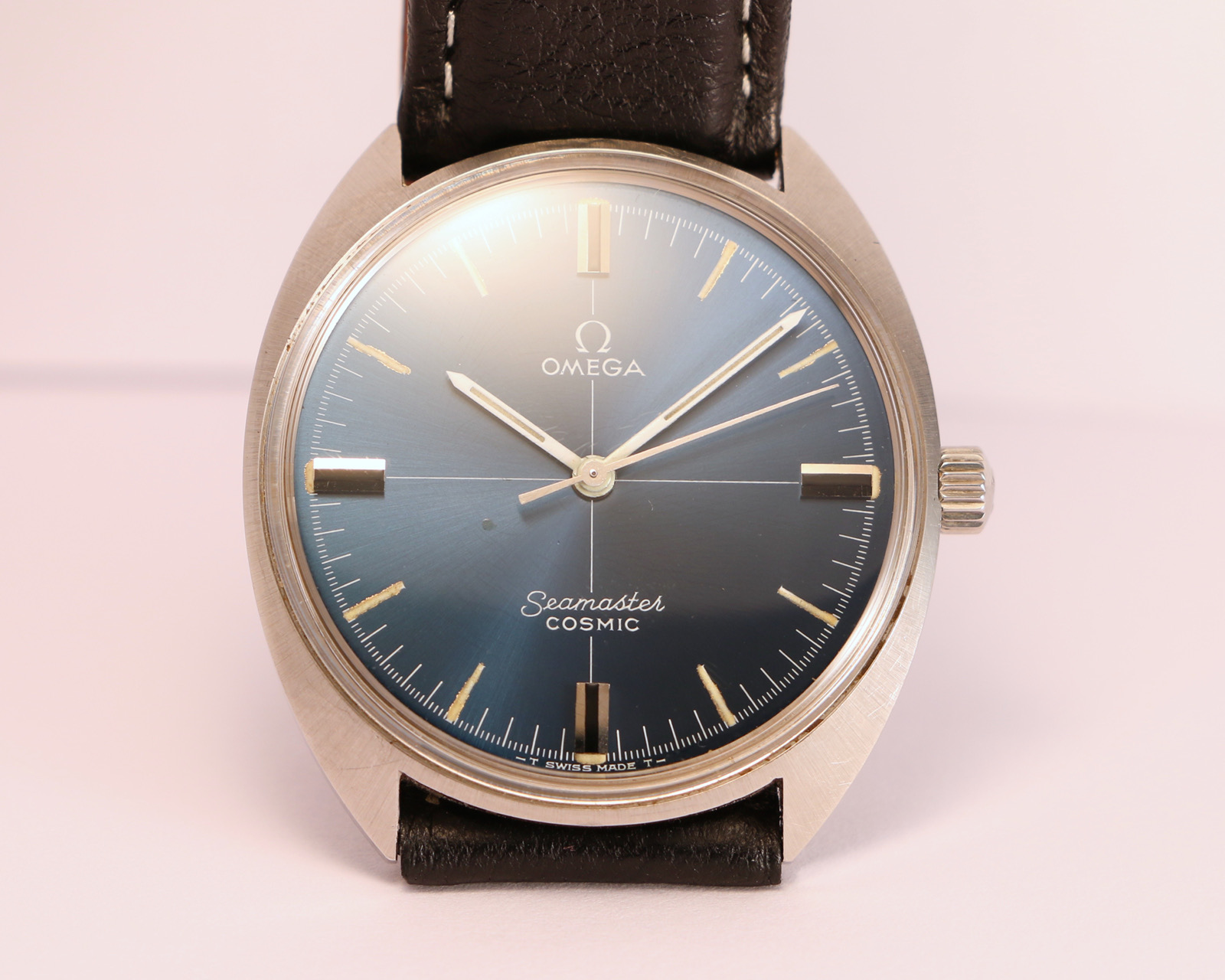 Omega Seamaster Cosmic Blue Dial Cross Hair Brussels Vintage Watches