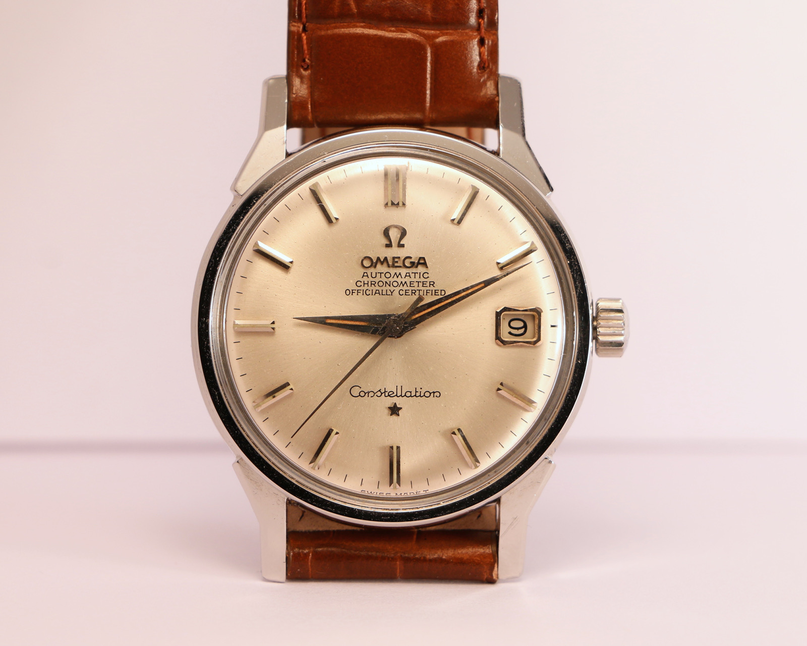 Omega Constellation Flat Dial Officially Certified Ref 168005