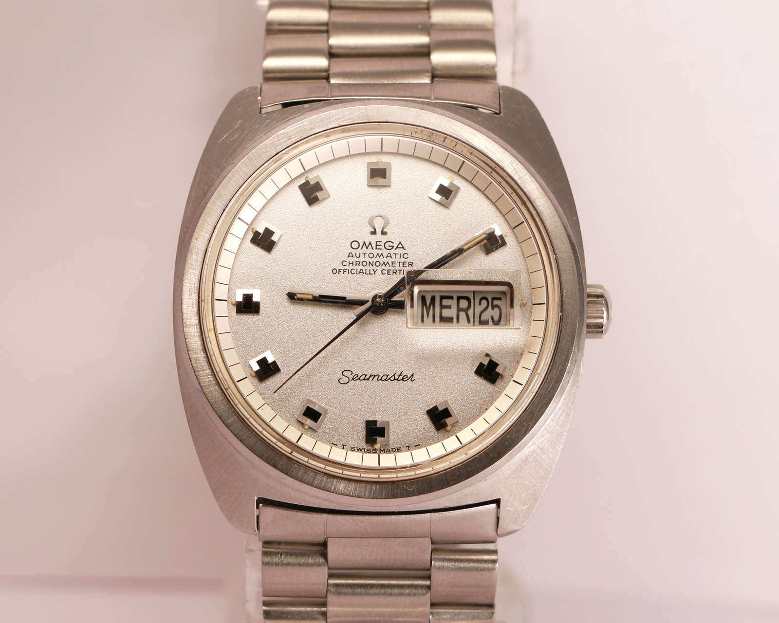 Omega Seamaster Day Date 38mm Officially Certified Ref 168034