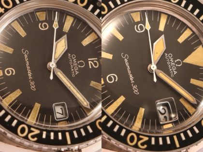 Two Seamaster 300 produced four days apart